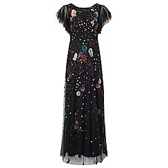 Ariella London - Black 'Ione' floral beaded dress