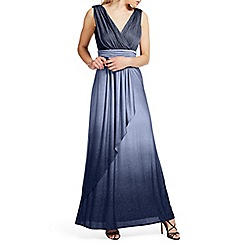 Ariella London - Navy 'Ravana' ombre lurex maxi dress