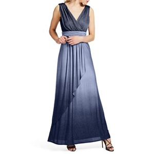 Ariella London Navy 'Ravana' ombre lurex maxi dress