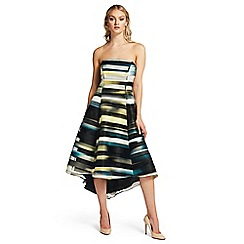 Ariella London - Green 'Arden' strapless stripe high low dress
