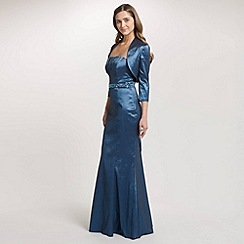 Ariella London - Blue Nina Crystal Stretch Taffeta Bolero