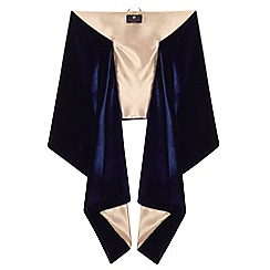 Ariella London - Navy satin 'Liv' stole