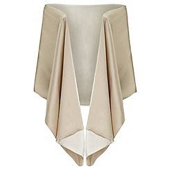 Ariella London - Champagne liv satin back crepe stole