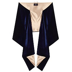 Ariella London - Navy nude liv satin back crepe stole