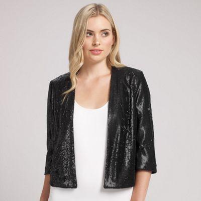 Ariella London Black Jackie Sequin Jacket - . -