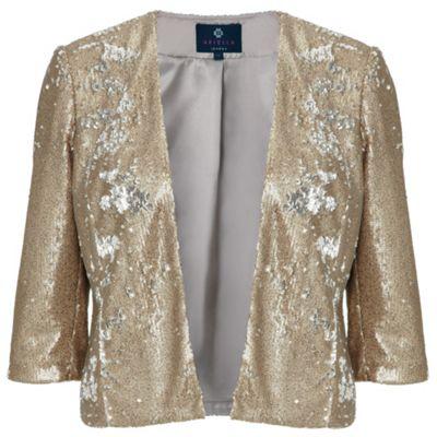 Ariella London Gold Jackie Sequin Jacket - . -