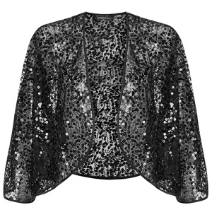 Ariella London Black sequined 'Kali' bolero