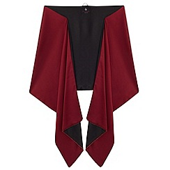 Ariella London - Black merlot rasha beaded edge stole