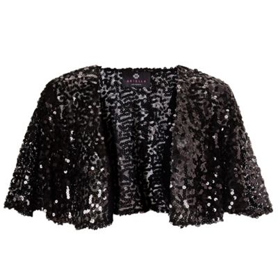 Ariella London Black mimi sequin bolero - . -