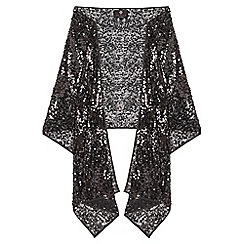 Ariella London - Black sequined 'Aya' stole