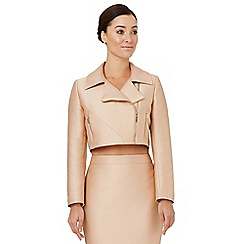 Ariella London - Pale pink 'Dilani' biker jacket