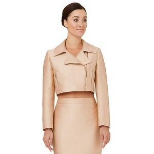 Ariella London Pale pink 'Dilani' biker jacket