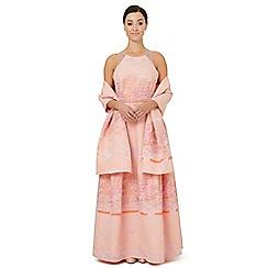 Ariella London - Pale pink jacquard 'Eleri' stole