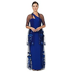 Ariella London - Royal blue embroidered 'Kayleigh' stole