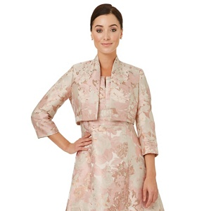 Ariella London Ivory jacquard 'Mirabel' mother of the bride jacket