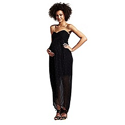 Rock-a-Bye Rosie - Black bandeau maternity maxi dress