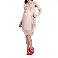 Rock-a-Bye Rosie - Mink jewel trim maternity dress