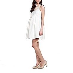 Rock-a-Bye Rosie - Cream laser cut maternity dress