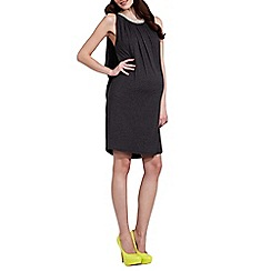 Rock-a-Bye Rosie - Grey jewel trim maternity dress