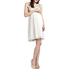Rock-a-Bye Rosie - Cream floral cotton bodice maternity dress