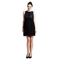 Rock-a-Bye Rosie - Black pu bodice dress