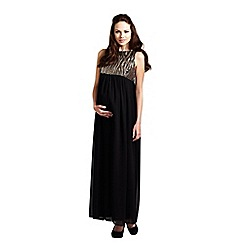 Rock-a-Bye Rosie - Black/gold emipre line sequin bodice dress