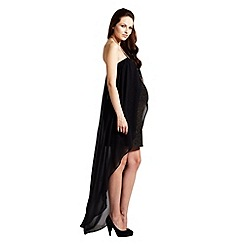 Rock-a-Bye Rosie - Gold mesh and chiffon bandau maternity dress