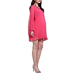 Rock-a-Bye Rosie - Pink maternity shift dress with bell sleeves