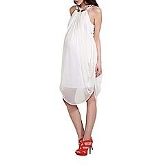 Rock-a-Bye Rosie - Cream jewel trim maternity dress