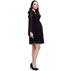 Rock-a-Bye Rosie - Black stunning black maternity lace dress