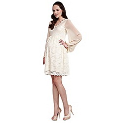 Rock-a-Bye Rosie - Cream bell sleeve lace dress