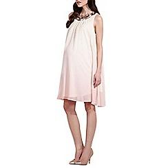 Rock-a-Bye Rosie - Pink jewel trim maternity shift dress