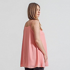 Rock-a-Bye Rosie - Coral pleat front swing cami top