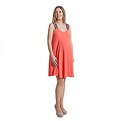 Rock-a-Bye Rosie - Peach chiffon swing eyelash cami dress katie