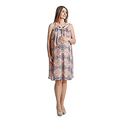 Rock-a-Bye Rosie - Multi chiffon tile print dress with jewel embellishment karina