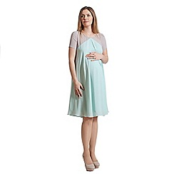 Rock-a-Bye Rosie - Mint colour block chiffon swing dress demi