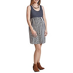Rock-a-Bye Rosie - Spot & stripe smock dress