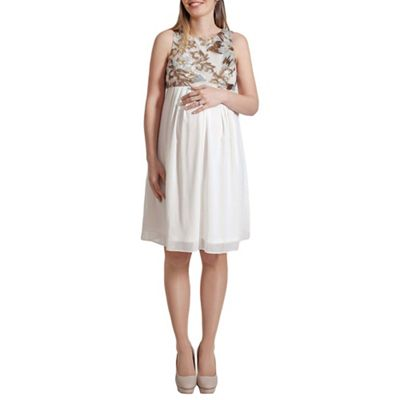 Rock-a-Bye Rosie Empire line dress with floral sequin