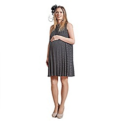 Rock-a-Bye Rosie - Black/ivory spot & stripe smock dress