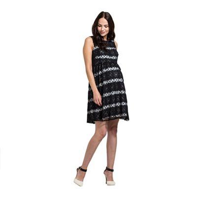 Rock-a-Bye Rosie Black polka dot babydoll dress