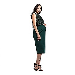 Rock-a-Bye Rosie - Green two teir bodycon dress