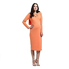 Rock-a-Bye Rosie - Orange empire line draped back dress