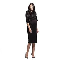 Rock-a-Bye Rosie - Black two tier bodycon dress