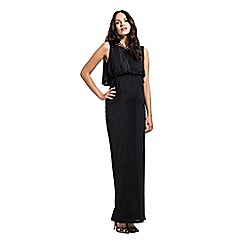 Rock-a-Bye Rosie - Black empire line draped cape dress