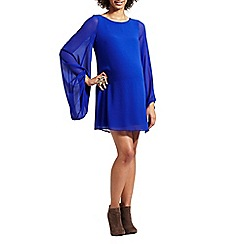 Rock-a-Bye Rosie - Blue maternity shift dress with bell sleeves