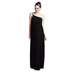 Rock-a-Bye Rosie - Black one shoulder maxi dress