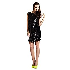 Rock-a-Bye Rosie - Black cowl back sequin dress