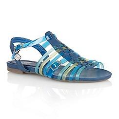 Lotus - Blue multi 'Balos' flat sandals