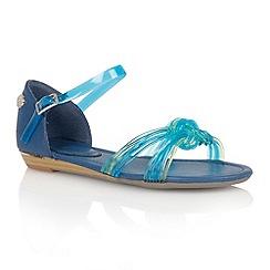 Lotus - Blue 'Juara' flat sandals