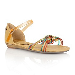 Lotus - Tan orange 'Juara' flat sandals